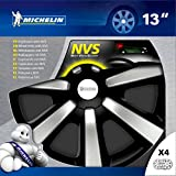 Michelin Set 4 copricerchi universali auto in ABS 13 Black Edition
