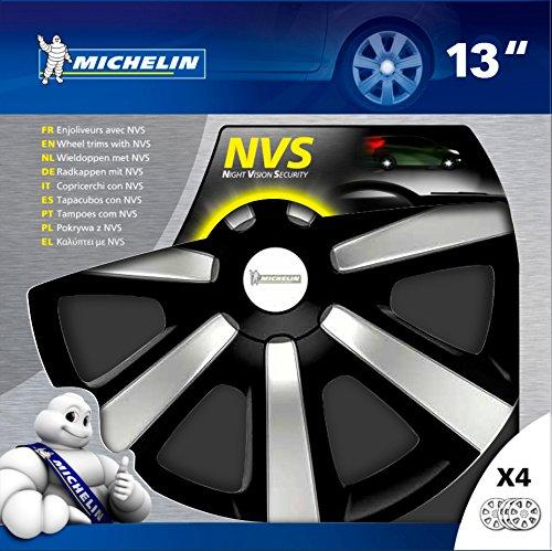 Michelin Tapacubos 009116 13 pulgadas, NVS Edition negro, Set de 4