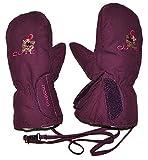 Unbekannt Handschuhe mit langem Schaft + Klettverschluß lila / violett - Größe: 3 bis 4 Jahre - Thermo gefüttert Thermohandschuh - Fausthandschuh Handschuh wasserdicht Thinsulate