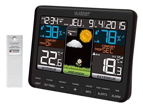 La Crosse Technology - WS6825 - Station météo colorée - Noir
