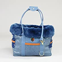 George Barclay Holmsley borsetta in cuoio Pet Carrier–Regal Blue