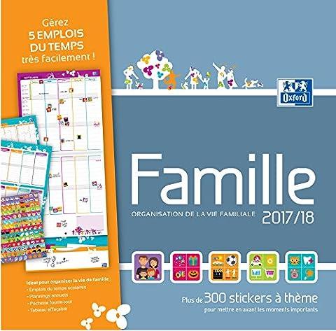 Oxford 400080216 Calendrier familial Sept 2017/18 30 x 30 cm