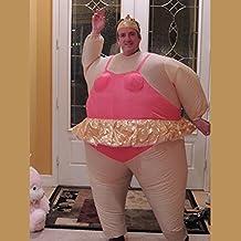 Edealing 1PCS inflable bailarina vestido de lujo del traje de gordo Stag Traje Traje Despedida de soltera