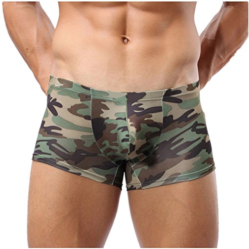 Boxershorts Herren, SEWORLD Neuer Mode Military Herren Camouflage Boxershorts Badehose Unterwäsche Shorts Boxer Unterhose (Camouflage, XL) (Shorts Boxer Military)