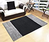#1: Glamkaart Black Both Side Reversible Shaggy Cotton Rug 3x5 Feet - Republic Day Sale Price - Limited Stock For Limited Period Price