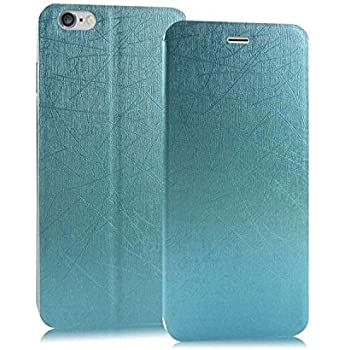 Heartly Premium Luxury PU Leather Flip Stand Back Case Cover For Apple iPhone 6 4.7 inch / Apple iPhone 6S 4.7 inch - Power Blue