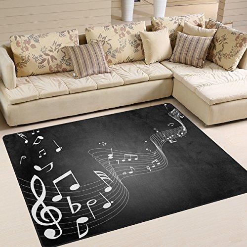 ingbags Super Weiche Moderne Noten Musik, ein Wohnzimmer Teppiche Teppich Schlafzimmer Teppich für Kinder Play massiv Home Decorator Boden Teppich und Teppiche 160x 121,9cm, multi, 63 x 48 Inch Floral Musik