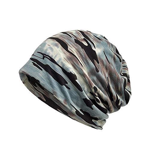 Qiusa 2 in 1 Uhr Caps Thermal Fack Maske für Frauen Casual Winddicht Hüte (Farbe : Blau, Größe : Einheitsgröße)