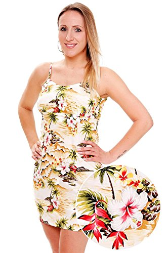 Pacific-Legend-Original-Hawaii-vestido-Mujer-S-XXL-Verano-Hawaii-de-Print-palmera-en-la-playa-color-beige-beige-extra-large
