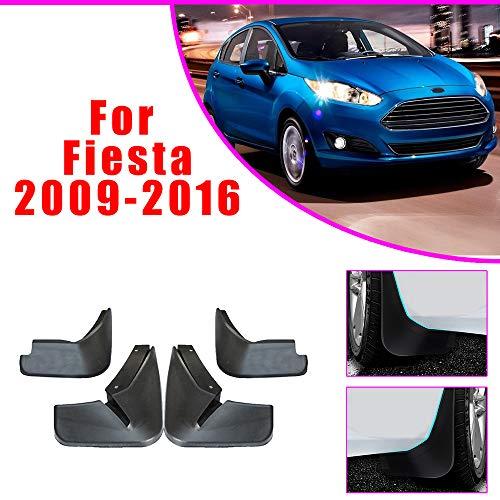 Cobear Auto Schmutzfänger Kotflügel passt für F ORD Fiesta Hatchback 2009-2016 Vorne Hinten Gummi-Spritzschutz Car Styling & Karosserie-Anbauteile Schwarz 4 Stück