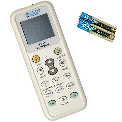 HQRP - Telecomando per condizionatori Mitsubishi, Toshiba, Hitachi, Fujitsu, Hyundai, Panasonic, Diy, Daewoo, LG, Sharp, Samsung, Electrolux, Sanyo, Amcor, Carrier