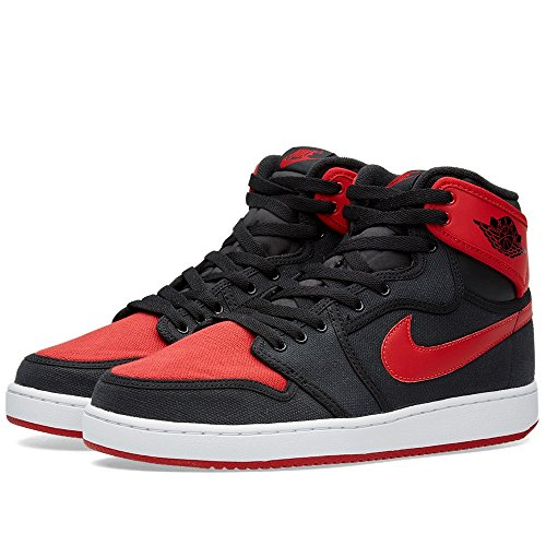 Nike Herren Aj1 Ko High Og Turnschuhe, Talla Schwarz / Rot / Weiß (Schwarz / Uni-Rot-Weiß)