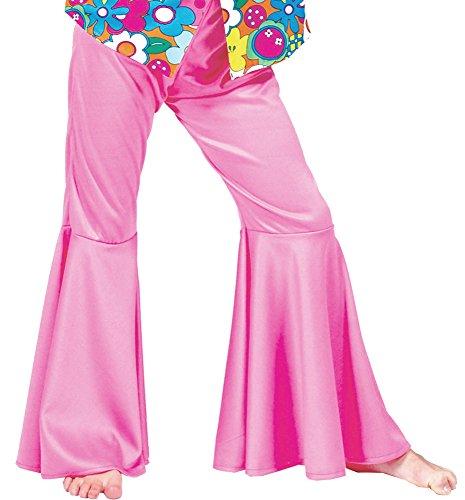 Das Kostümland Hippie Schlaghose für Mädchen Rosa Gr. - Dancing Queen Kostüm Mädchen