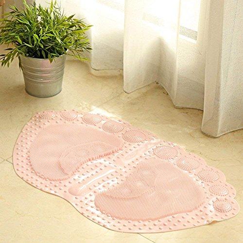 DHG Matten-Badezimmer Nonlip Matten Badezimmer WC Dusche Badezimmer Tür Bad PVC Waterproof Foot Pad,C,36X60Cm (14X24Inch) (36 Dusche Tür)