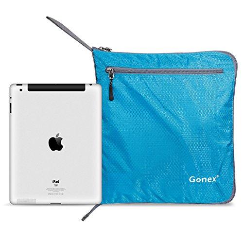Gonex Leichter Faltbare Reise-Gepäck 60L & 80L & 100L Duffel Taschen Übernachtung Taschen/ Sporttasche für Reisen Sport Gym Urlaub himmelblau