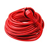 AS Schwabe 51160 - Cable alargador de PVC (20 m, H05VV-F 3G1,5, IP20 en interiores), color rojo