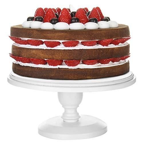 MyGift Kuchenständer, rund, 25,4 cm, Weiß (Rustikale Cupcake Stand)
