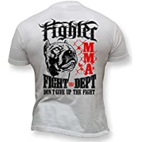 Dirty Ray MMA Fighter Don't Give Up the Fight maglietta uomo K50 (L)