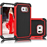 Coque Samsung Galaxy S7 Edge [Absorbant les Chocs] [Anti-Rayures Back] Eutekcoo Coque Housse Etui Ultra Slim Fit pour Samsung Galaxy S7 Edge-ROUGE