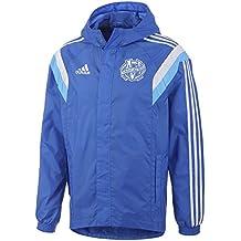 Adidas - Chaqueta impermeable, diseño de Olympique de Marseille - blu Talla:M