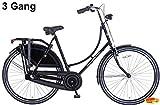 Plezier Damen Hollandrad 28 Zoll 3 Gang Schwarz 57 cm