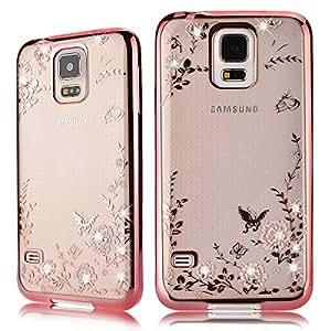Galaxy S5 Hülle, HB-Int Strass Weiche Silikon Handyhülle