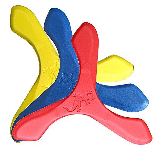 LMI und Fox-Boomerang Schaumstoff Natursport, Jay D, Blau, Gelb, Rot