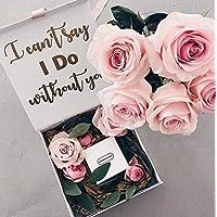personalisierte Geschenkbox in weiß oder roségold für eure Trauzeugin, Brautjungfer