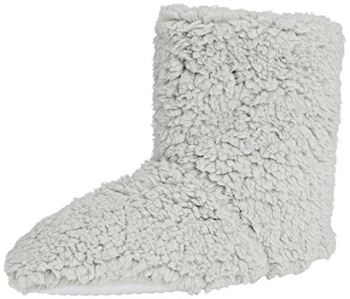 Spot on Fluffy Bootie Damen Hausschuhe, Grau - Grau (Grau), Small (Fleece-booties)