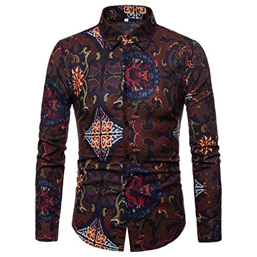 Uomo maglietta eleganti,uomini risvolto primavera e autunno t-shirt uomo camicia casual maglione slim fit autunno camicetta shirt top manica lunga camicetta slim fit t-shirt classico top qinsling