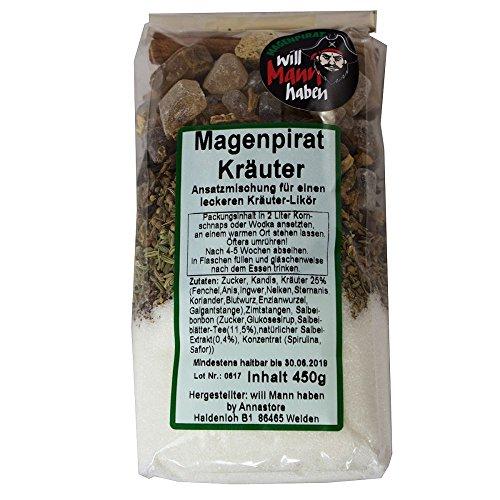 Likör Magenpirat Kräuter DIY Kräuterschnaps Kräuterlikör Magenschnaps Magenbitter Do it yourself
