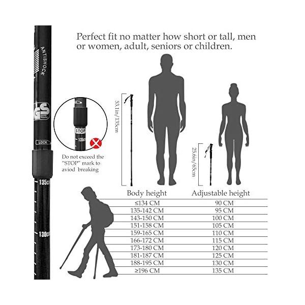 Black Nordic Walking Poles for Mountaining