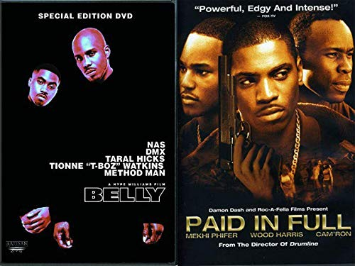 Rappers On The Big Screen + On The Wrong Side Of The Tracks Double Feature: Belly (Special Edition) & Paid In Full DVD Bundle (NAS, METHOD MAN, DMX, CAM'RON) - Equalizer Dvd-the