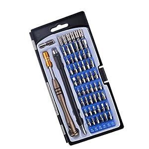 + otras  videojuegos: Alta calidad 57en 1Precisión screwriver Set 54Bits conductor Kit para todos l...