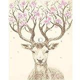 MYLOOO Weihnachten Herr Herr Deer DIY Malen Nach Zahlen Handgemalte Tiere Malen Nach Zahlen Kits Home Wandkunst Bild 40x50cm
