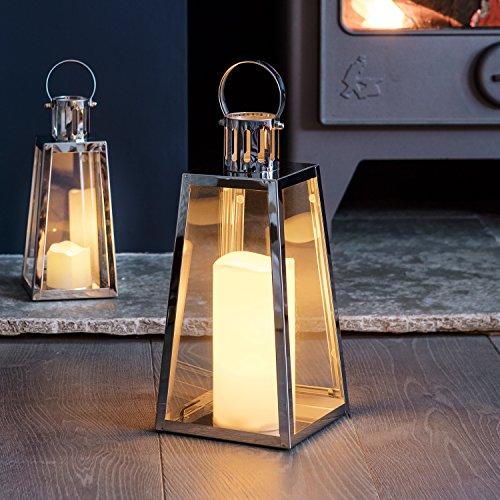 ED Laterne LED Kerze 28cm Timer Lights4fun ()