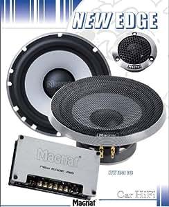 Magnat new edge 216 2 voies pour voiture 16,5 cm haut-parleur 400 w noir/argent