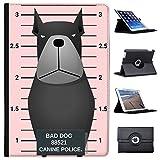 Gegenüberstellung Polizei schwarzer Rottweiler Case Cover / Folio aus Kunstleder für das Apple iPad Pro 10.5