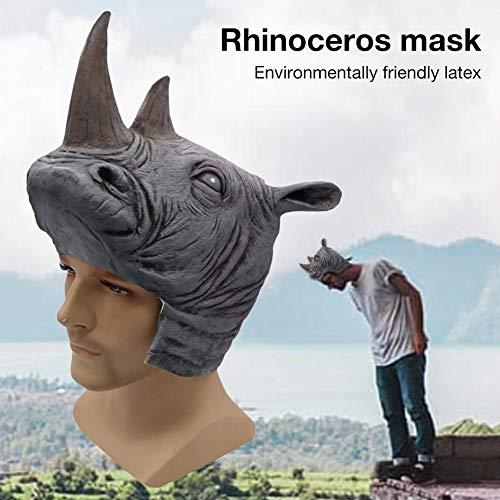 xiangpian183 Halloween Maske für Erwachsene - Einzigartige Nashorn Perücken Alien Bar Ordentlich Kostüm Requisiten Maskerade Bar Party Maske für Männer Frauen (Für Erwachsene Nashorn Kostüm)