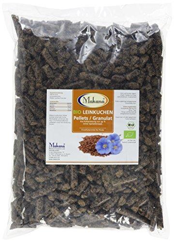 Makana BIO Leinkuchen Pellets (grobes Granulat), 1,5 kg Beutel (1 x 1,5 kg) (Die Produktion Bio Beutel Der)
