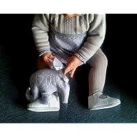 """Saco térmico de semillas """"elefante"""", para bebé y personalizado."""