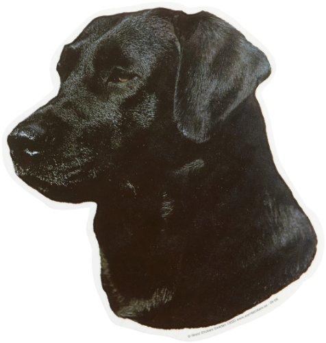 World Stickers Schwandt Heimtierbedarf 13020 Aufkleber 2 Stück ca. 140 x 160 mm für Warnschild Labrador schwarz -