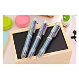 Tiptiper Multicolor Ballpoint Pens - 6-in-1 Retractable 6 Vivid Colors in Every Pen Best for Smooth Writing