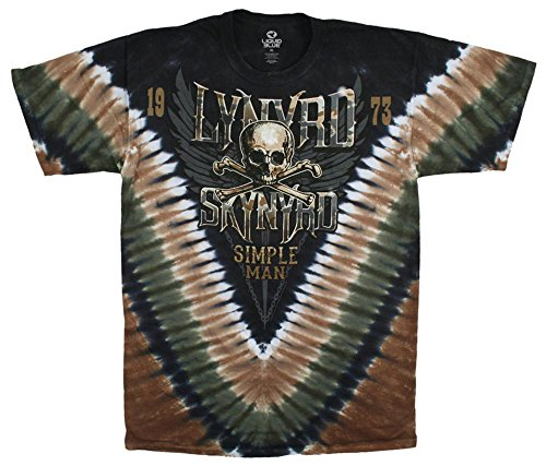 Juniors: Lynyrd Skynyrd - Skynyrd Stars Damen-T-Shirts L - Tie-Dye-Technik (T-shirt Lynyrd Damen Skynyrd)