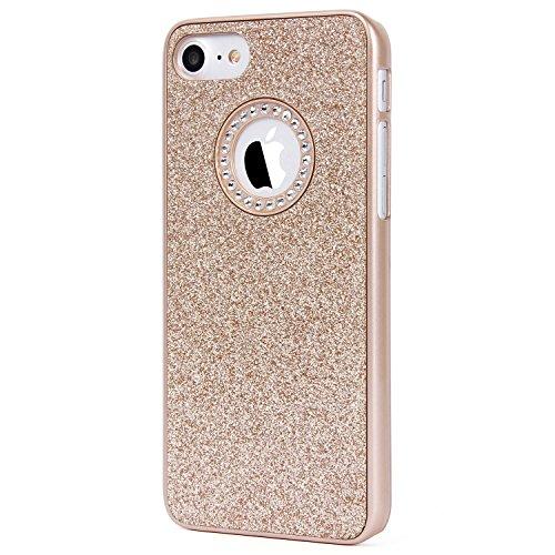 "iPhone 6S Hülle, Imikoko® Luxus Hardcase Glitzer Schutzhülle Bling Hardcase Strass Hülle Handyhülle Etui Case Für iPhone 6/6S (4.7"",Reines Rosengold) … Golden"