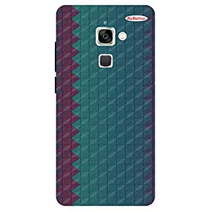 Maroon & Green Color Design - Mobile Back Case Cover For LeEco Le Max 2