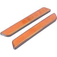 GZYF - Par de reflectores de horquilla delantera para Harley All Lower Legs Slider, Softail y Sportster, color naranja