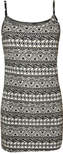 WearAll - Imprimé débardeur top - Haits - Femmes - Tailles 36 à 42 Petit Aztec