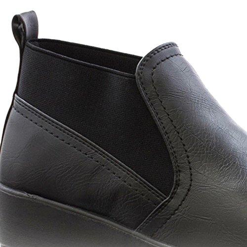 Cushion Walk - Stivali Chelsea donna Black