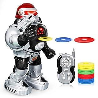 ANTAPRCIS Ferngesteuerter Programmierbar Roboter Spielzeug für Kinder, Kampf Schießen LED Fernbedienung Programmierbar Kindergeschenk Walking Gesangstanz X-Man, Mehrere Größen